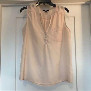 Light pink beige sleeveless blouse